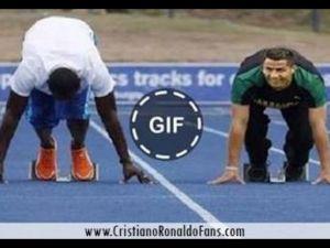 Cristiano Ronaldo Usain Bolt 100m Yarışı
